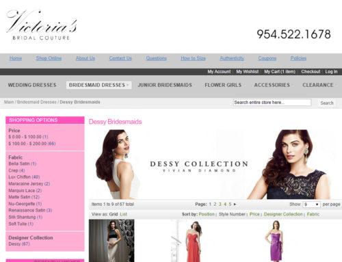 A Bridal Website