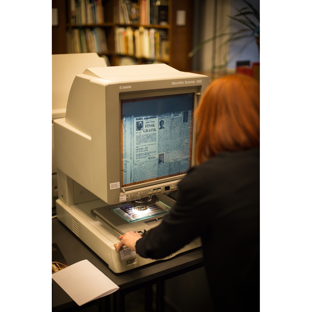 Microfilm reader printer from microfile