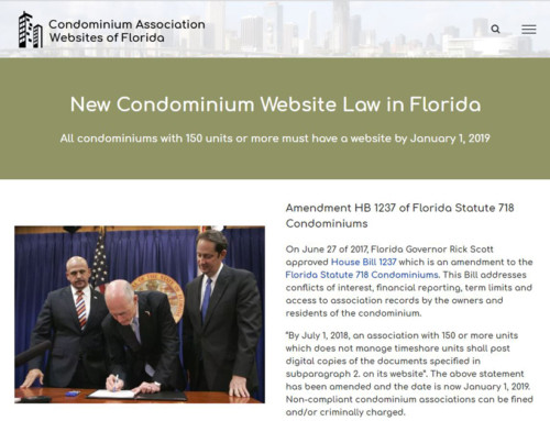 Condominium Association Websites of Florida