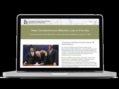 Condominium Association Websites of Florida by Microfile